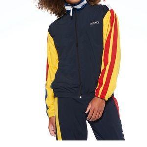 Perry Ellis Color Block Track Jacket
